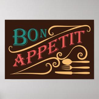 Poster del diseño de la cita de Appetit del Bon