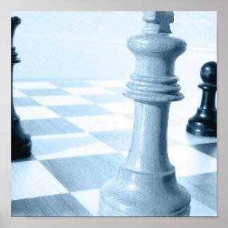 Poster del diseño del ajedrez