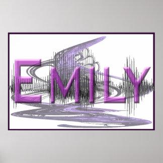 Poster del diseño del arte gráfico de Emily Sonono