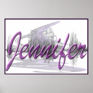 Poster del diseño del arte gráfico de Jennifer Son