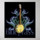 Poster del diseño del banjo del Bluegrass