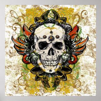 Poster del diseño del cráneo