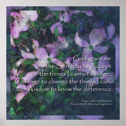 Poster del Dogwood del rezo de la serenidad