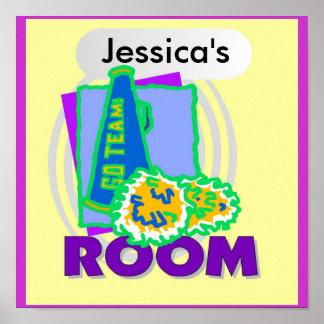 Poster del dormitorio de los niños