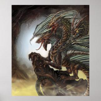 poster del dragón 3-Headed
