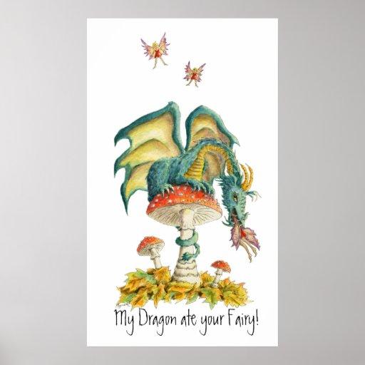 Poster del dragón de los hongos