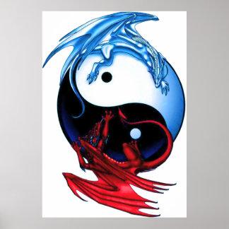 Poster del dragón de Yin Yang