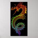 Poster del dragón del arco iris