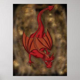 Poster del dragón del arrastramiento