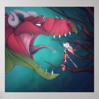 Poster del dragón y del Goblin