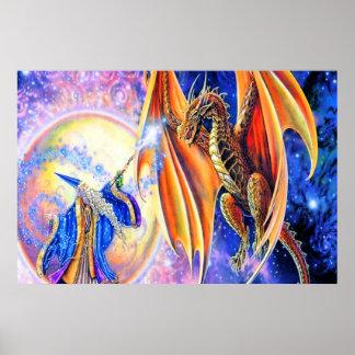 Poster del dragón y del mago