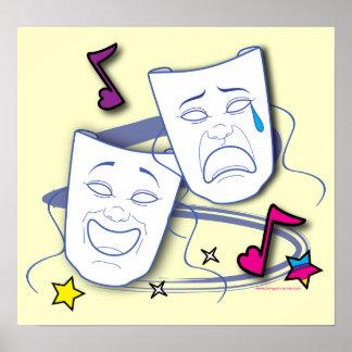 Poster del drama de la tragedia de la comedia