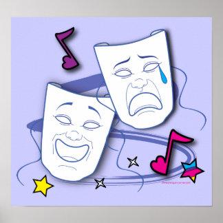 Poster del drama de la tragedia de la comedia: Púr