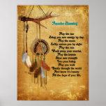 Poster del dreamcatcher de la bendición de Apache Póster