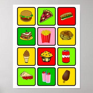 Poster del drogadicto de los alimentos de preparac