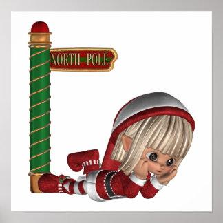 Poster del duende del navidad