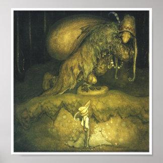 Poster del duende del viejo hombre de Juan Bauer