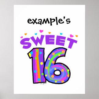 Poster del dulce 16 - cree sus los propios