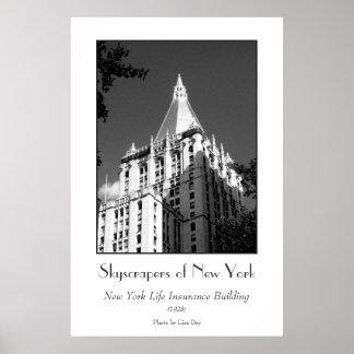 Poster del edificio del seguro de vida de Nueva Yo