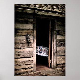 Poster del edredón de la cabina