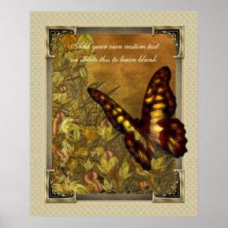 Poster del ejemplo de la mariposa del estilo del v