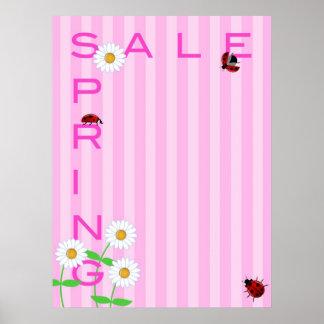 Poster del ejemplo de la venta de la primavera