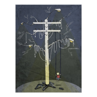 Poster del ejemplo del árbol de Dystopic