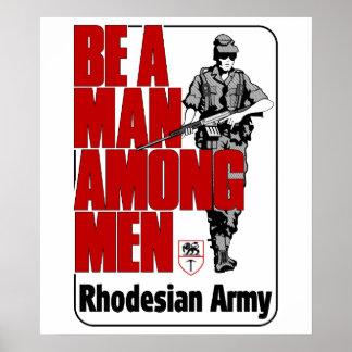 Poster del ejército de Rhodesian