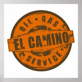 Poster del EL Camino de la muestra del vintage