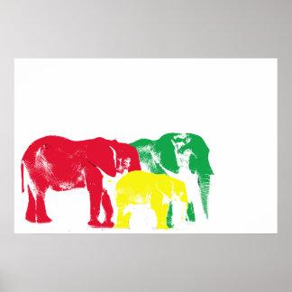 Poster del elefante de Rasta