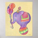 Poster del elefante del fiesta