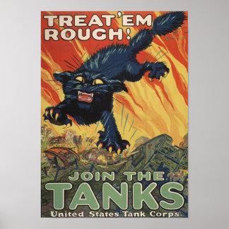 Poster del Em Rough-1918 de la invitación