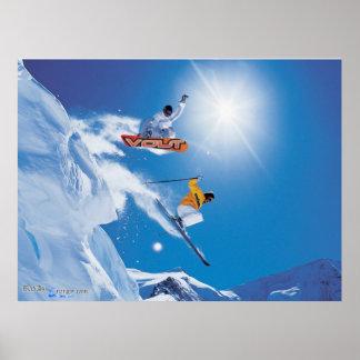 Poster del embarque de la nieve