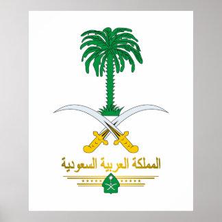 Poster del emblema nacional del saudí