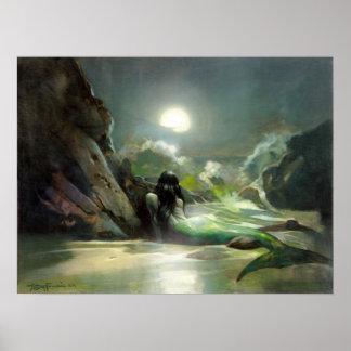 Poster del ensueño del mar de la sirena