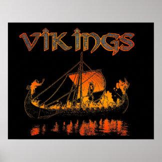 Poster del entierro de Viking