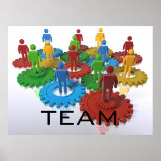 Poster del equipo con énfasis sobre diversidad