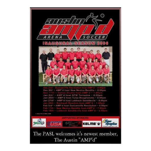 Poster del equipo de Austin AMP'd 2006