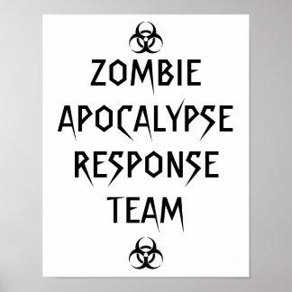 poster del equipo de la respuesta de la apocalipsi
