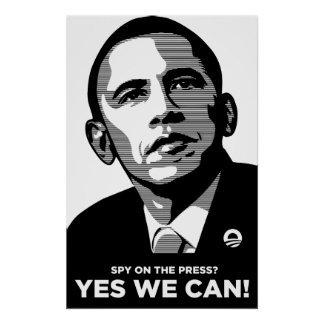 Poster del escándalo de la prensa del espía de Oba