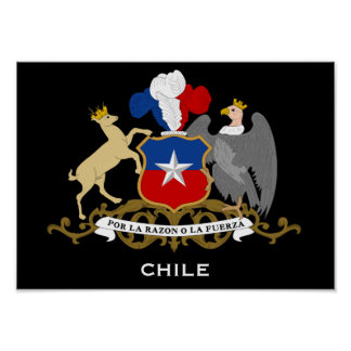 Poster del escudo de armas de Chile