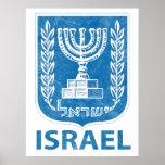 Poster del escudo de armas de Israel