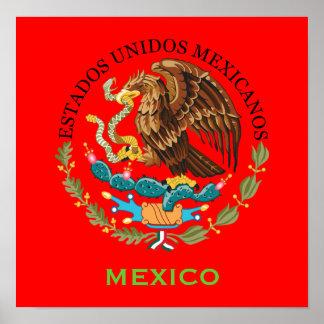 Poster del escudo de armas de México