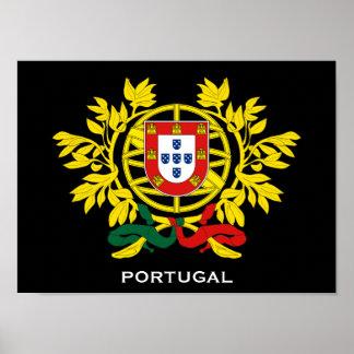 Poster del escudo de armas de Portugal