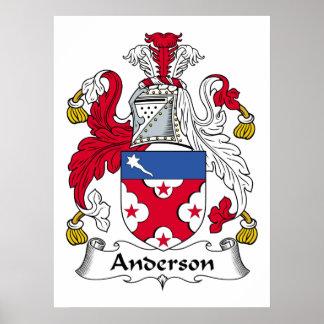 Poster del escudo de la familia de Anderson