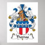 Poster del escudo de la familia de Thomas