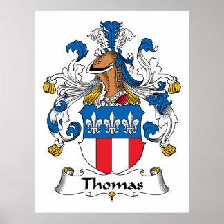 Poster del escudo de la familia de Thomas Póster