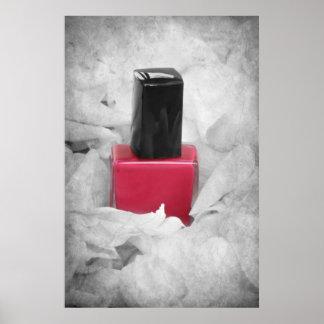 Poster del esmalte de uñas