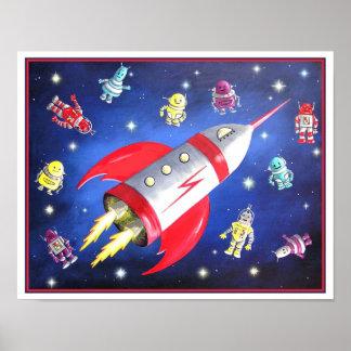 Poster del espacio exterior