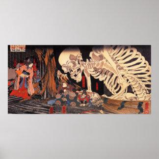 Poster del esqueleto de Kuniyoshi
